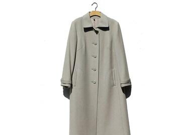 Vintage Oolong Tea Green Wool Coat