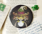 Wicked Witch Pocket Mirror - 3 inches round Halloween Favor