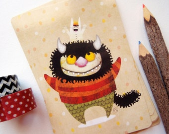 Friendship Monster (Where the Wild Things Are) - Limited Edition Wild Things Postcard Postcrossing