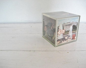 Vintage Acrylic Photo Cube