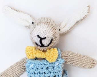 Small grey bunny toy, Easter bunny toy, crochet bunny toy, cute bunny plush, hand knitted toys, toy bunny, bunny crochet toy