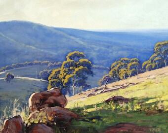 Large Landscape Painting Original oil Painting Fine Art by  Graham Gercken