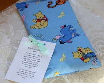 Children's Rice Bag, Winnie The Pooh, Hot Therapy Bag, Boo Boo Bag, Blue, Boy, Girl, Tigger, Kid