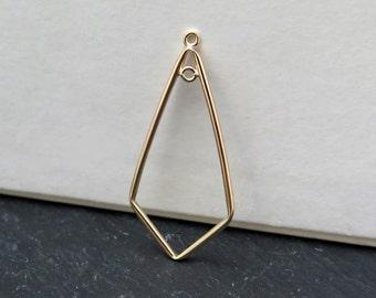 Gold Filled 1 Loop Kite Chandelier 37mm (CG8328)