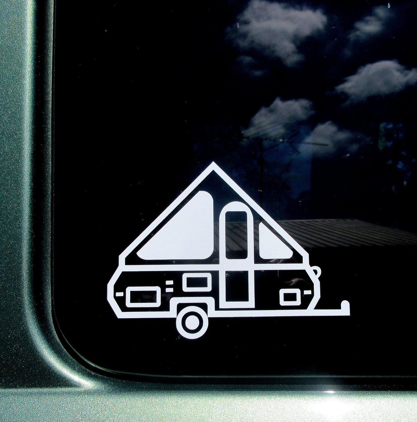 A Frame Pop Up Camper Decal A Frame Car Window Sticker