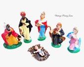Vintage Nativity Scene Figurines, Christmas Decoration