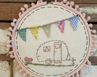 Happy Camper with bunting