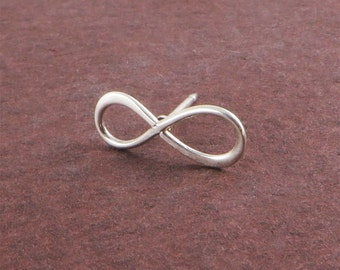 1pr Small Sterling Silver Infinity Studs boundless love forever silver post earrings