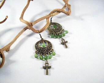 Intricacies earrings YD-265E boho tribal long