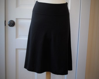 Jersey Knit Skirt - Black - Size Large