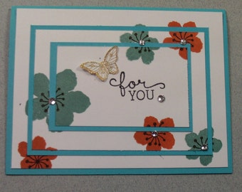 """Handmade Stampin"""" Up """"For You""""  card"""