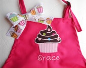 Personalized  Child's Apron With Cupcake