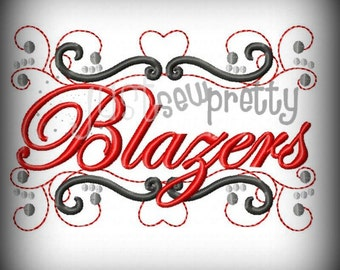 Blazers Pride Embroidery Design