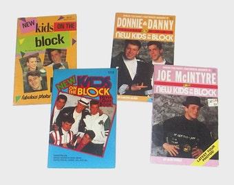 1990s NKOTB books / 90s music books / New Kids on the Block Set of Four Books