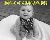 Baby Bandana Bibs Bundle of 6  Cotton Teething Bibs Baby Bandit Bibs