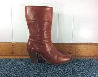 Vintage 1970s FRYE Boots / Sz 7-7.5