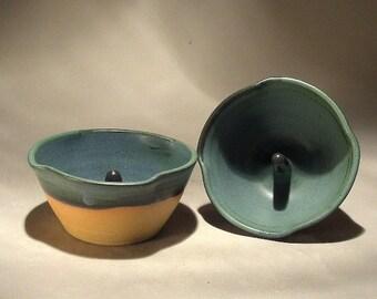 Handmade Stoneware Pottery Apple Baker Pair  by Jon Whitney