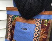 Patchwork tote in African wax fabrics