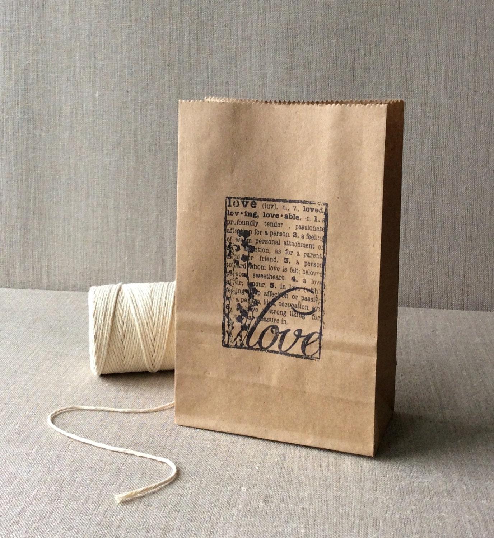 Wedding Favor Bags Paper : 20 Kraft Wedding Favor Bags kraft paper bags wedding paper