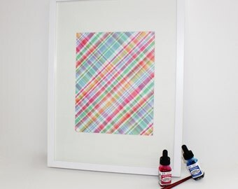Art Print / Painterly Plaid / Diane Kappa