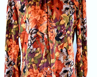 Beautiful eighties Floral Print Blouse