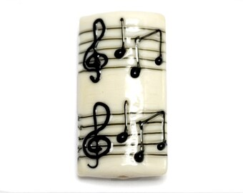 NEW! 11838803 Musical Notes Kalera Focal Bead - Handmade Glass Lampwork Beads Set