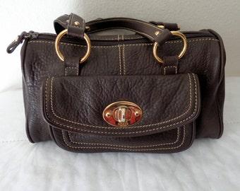 Chaps small Boston bag, top zip satchel, genuine butter soft leather , doctors bag ,dual strap satchel