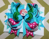 SPECIAL REQUEST IZA: Large -Layered Hair Bow Barrette