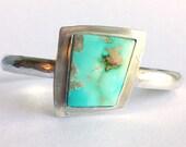 Royston Turquoise Cuff Bracelet - Hammered Cuff Bracelet - Royston Mine Turquoise - Turquoise Jewelry