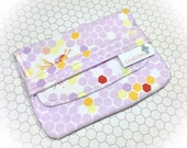 Sanitary Pad Holder | Period Pad Case | Bees | Sanitary Napkins Bag | Period Pads | Sanitary Napkins Holder | Hexagon Print | Period Wallet