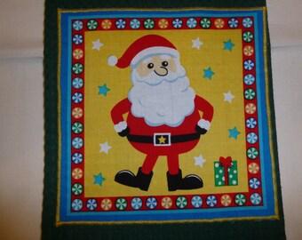 Tea Towel Appliqued with a Christmas Theme (599)