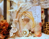 ROMANTIC Vintage Inspired Mixedmedia Art Diary SMASH Book Journal VictorianAlbum