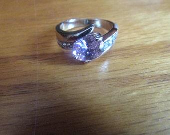 cz pink ring