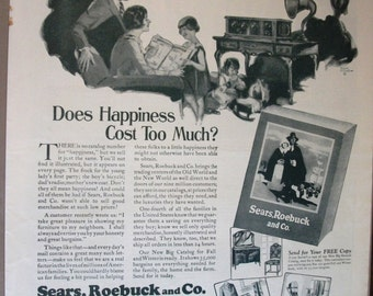 EVER 103  Sears, Roebuck and Co.  Ad  -  1925