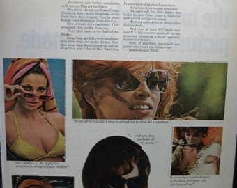"Movies ...-196  ""Raquel Welch for Foster Grants Sunglasses"" Ad  -  March 1968"