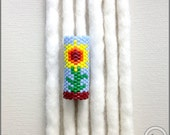 Sunflower Dread Accessory - Peyote Stitch Dreadlock Bead - Loc Cuff