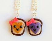 Heart Jelly Toast with Bow Necklace