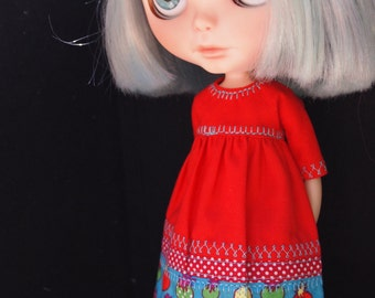 Mixed Textiles dressfor Blythe