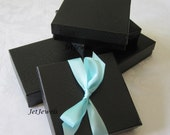 10 Black Gift Boxes, Jewelry Gift Boxes, Jewelry Box, Kraft Boxes, Wedding Favor Boxes, Bridesmaid Gift Box, Cotton Filled 3.5x3.5x1
