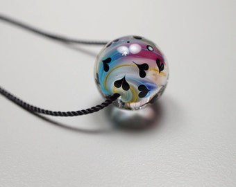 I Love You Gift // Murano Glass Necklace // I Love You // Lampwork Bead Pendant