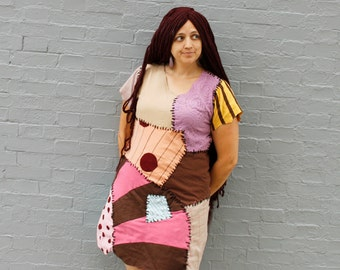 Custom Sally rag doll dress //  adult Halloween costume  //  nightmare Sally dress  //  Sally costume