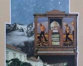 Original Collage 'Big Gun'