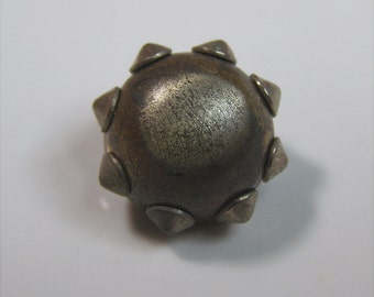 Funny Little Spiked Rivets Metal Vintage Button-Steampunk Worthy
