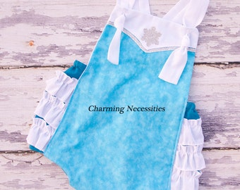 Elsa Baby Girl Sunsuit Romper Bubble, Halloween Costume, Frozen - by Charming Necessities Inspired by Princess Elsa