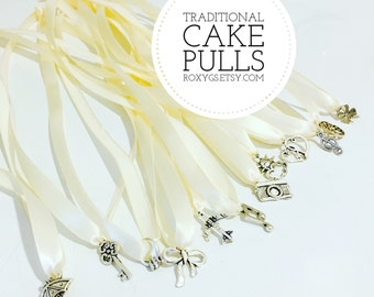 meaning of wedding cake pulls cake pulls traditional set 12 charms you choose ribbon color 17245