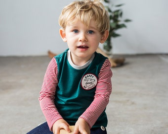 Happy Go Lucky emerald merino kids top