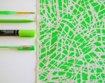 Tropic - screen printed fabric - neon colours