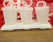 VINTAGE TUPPERWARE Ice Pops / Juice Pops , Plastic Juice Pops, Make your own, Tupper ware, Summer Fun, Hydrate, Vintage, Freezer Pops