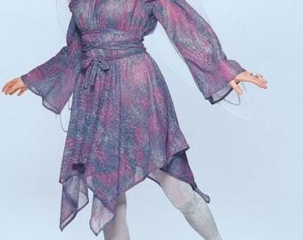 Fairy Dress Gypsy Dress Faerie Pixie Gipsy Fantasy Renaissance Wench Witch Pagan