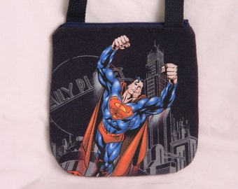 Upcycled Superman Purse